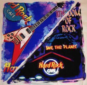 Hard-Rock-Cafe-ORLANDO-1990s-HEAVY-Tee-T-SHIRT-Mens-Size-SMALL-034-Kingdom-of-Rock-034