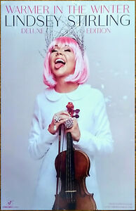 LINDSEY-STIRLING-Warmer-In-The-Winter-Ltd-Ed-RARE-Tour-Poster-Display-Christmas