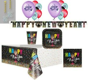 "New Years Eve party ""Confetti"" Design plates napkins ..."