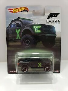 HOT WHEELS /'17 FORD F-150 RAPTOR TRUCK FORZA MOTORSPORT DIE-CAST REAL RIDERS NEW