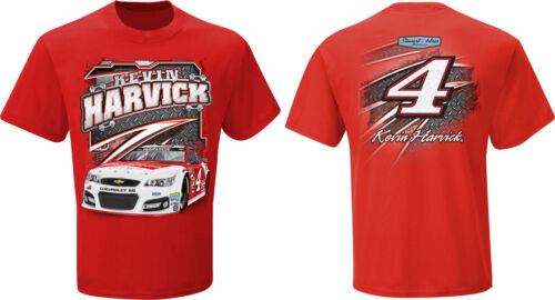 Kevin Harvick 2014 Checkered Flag #4 Budweiser Flat Out Tee FREE SHIP