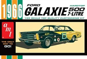AMT-1966-Ford-Galaxie-500-Hardtop-1-25-scale-plastic-model-car-kit-new-904