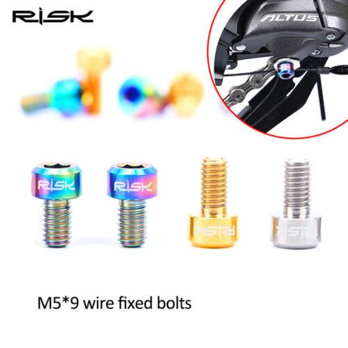 4pcs M5x9 Titanium Screw Ti Alloy Cylindrical Head Bolt for bicycle Derailleur