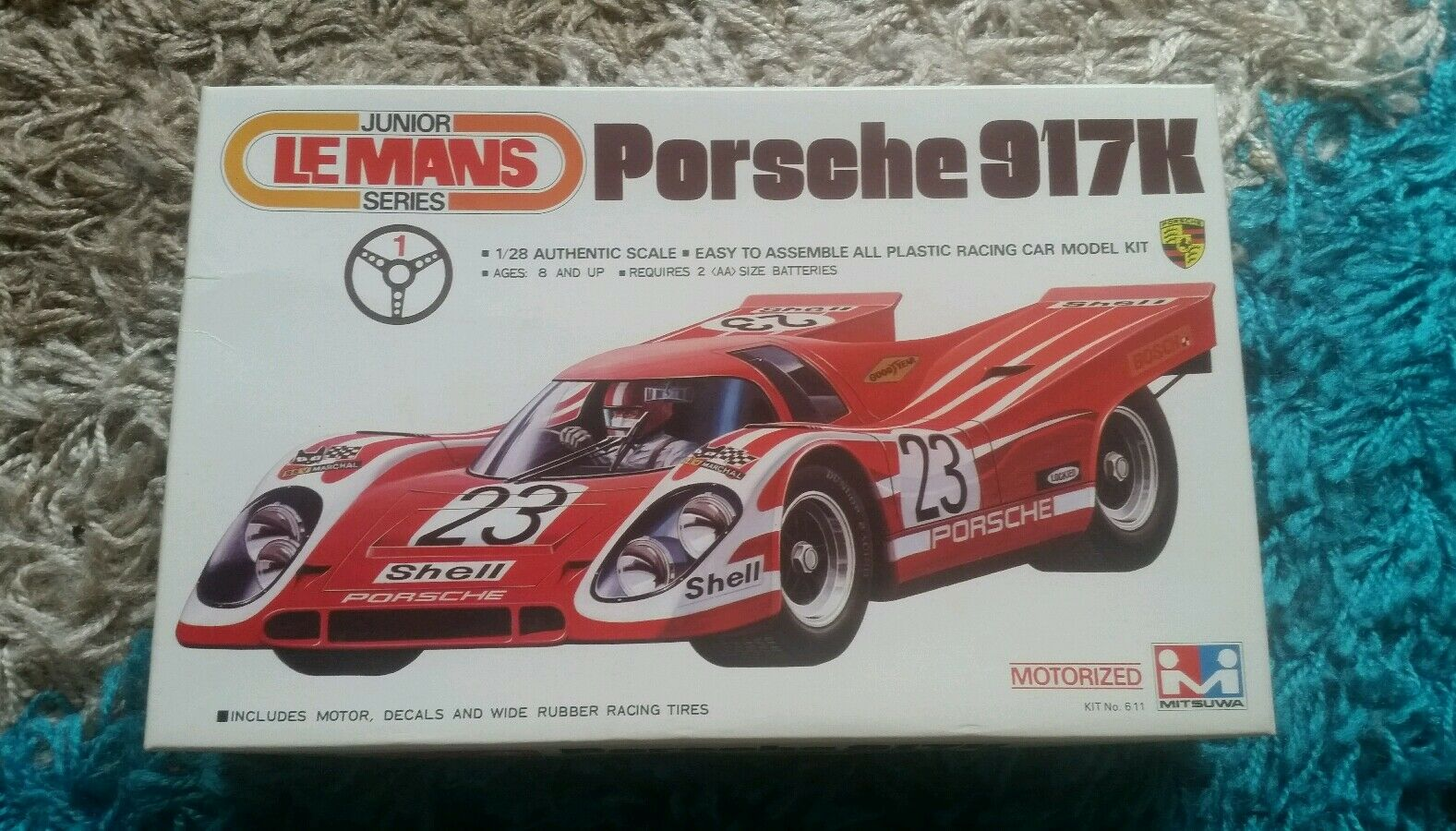 Mitsuwa 1 28 Porsche 917K Le Mans Motorized Kit Great Condition Super Rare