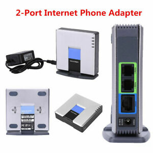 Unlocked-VoIP-Gateway-Router-SIP-RJ45-2-Phone-Ports-Adapter-for-Linksys-PAP2T