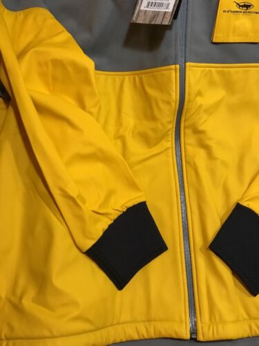 Old Harbor Outfitters OHO North Rip Full Zip Fishing Jacket Grey//Yellow 3XL $120