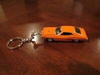 1972 Ford Gran Torino Sport Orange W Laser Stripes Diecast Model Toy Keychain
