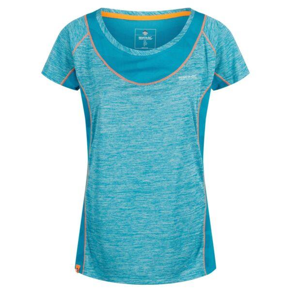 Regatta Breakbar IV Damen T-Shirt Melange Kurzarm Shirt Netz-Einsätze Fitness
