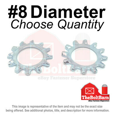 Pick Quantity #10 External Tooth Lock Washer Low Carbon Steel Zinc Plated