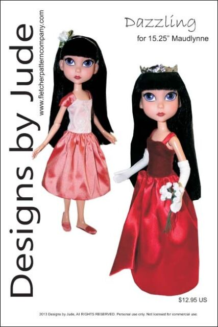 """Ship to Shore Doll Clothes Sewing Pattern 15.25/"""" Maudlynne LittleMissMatched"""