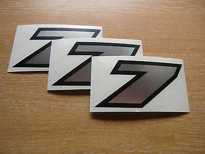 set of 3 Black /& Silver number 1 decals 95mm high stickers