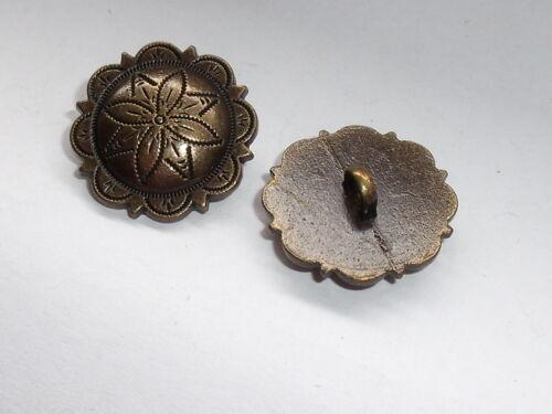 6 trozo de metal botones botón ojales botón 20 mm altmessing mercancía nueva inoxidable #788#