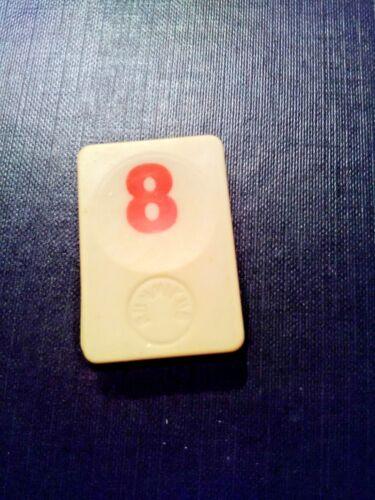 PION RUMMIKUB N° 8 ROUGE D/'ORIGINE 4cm X 3cm