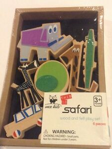 Wood And Felt Play Set Safari Once Kids Brand. Brand New In Original Package