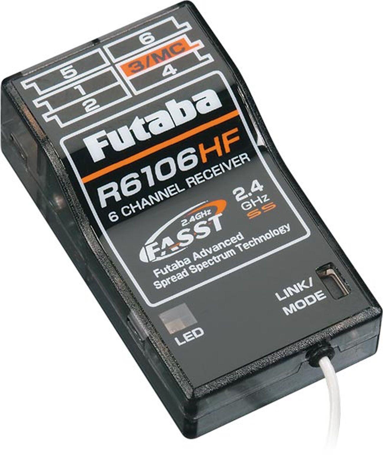 Futaba R6106HF 2.4GHz FASST 6Channel Rx Park Flyer 10C 10CAG 10CHG FUTL7650