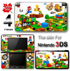 Super-Mario-3D-Land-DECAL-SKIN-VINYL-STICKER-COVER-for-Nintendo-3DS