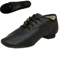 Jazz Dance Modern Stage Leather Shoes Split Sole
