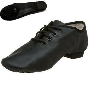 Jazz-Dance-Modern-Stage-Leather-Shoes-Split-Sole