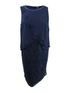 SL-Fashions-Women-039-s-Plus-Size-Lace-Embellished-Midi-Dress