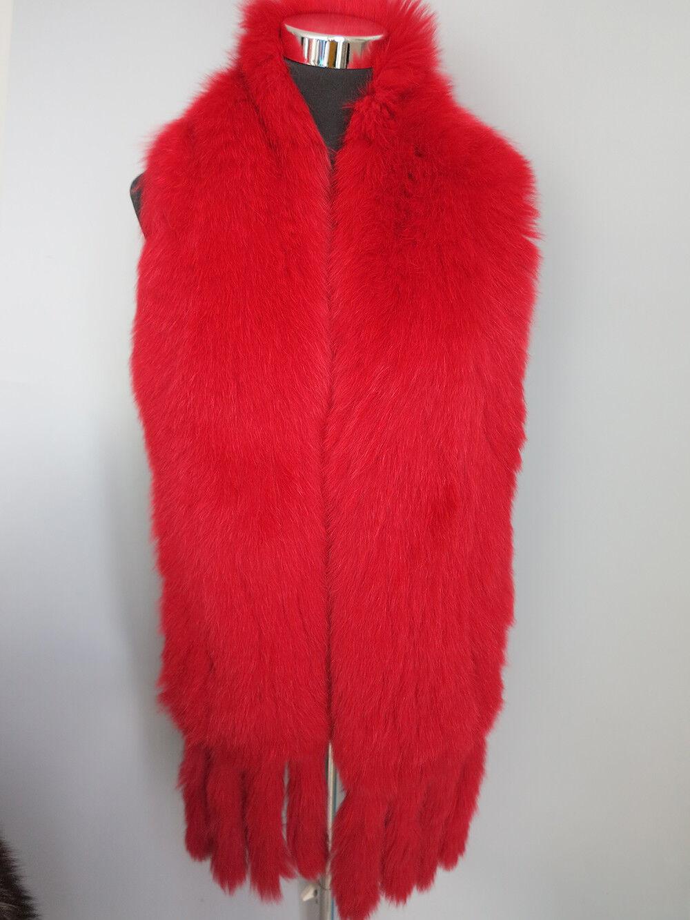 New Braid100% real fox fur scarf /cape/ collar / wrap r