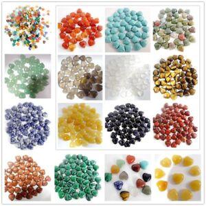 10-10mm-Mix-agate-Gemstone-heart-CAB-CABOCHON-Flat-Back-Beads-Jewelry-Design