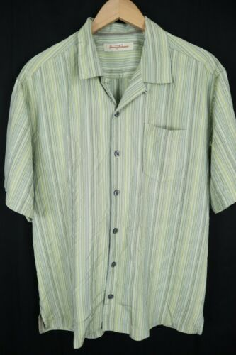 Tommy Bahama 100% Silk Camp Shirt Mens sz Large Gr