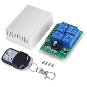 433MHz-DC12V-4-CH-Channel-Wireless-RF-4-Relay-Remote-Control-Switch-Receiver