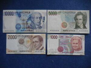serie-4-banconote-1000-2000-5000-10-000-lire-FDS-fior-di-stampa