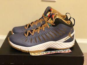 Image is loading Nike-Air-Jordan-Superfly-RTTG-Obsidian-Gold-Washington- b377b64de915