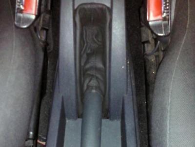 Onesto Cuffia Leva Freno Opel Meriva Vera Pelle Antracite Superficie Lucente