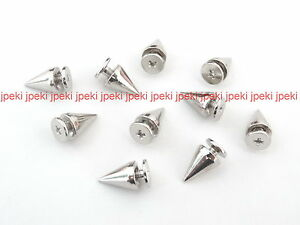 Metal-Cone-Screwback-Spikes-7x9mm-Studs-Spots-Punk-Spikes-50-100-U-Pick-N82