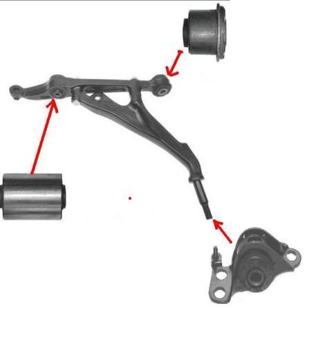 Honda Civic 1.8 Vti Vtec MB6 Hatch Estate Inférieur Bras Bush Kit Clavicule