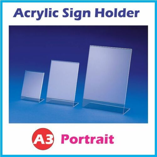 A3 Acrylic Single Sided Counter Sign Holder