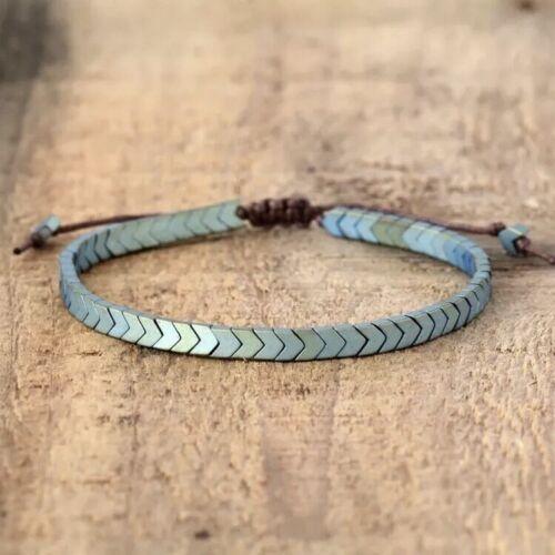 Bracelet Men Women Stone And Cord Boho Friendship Bracelet Adjustable