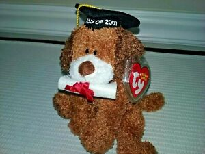 """TY BEANIE BABY 2007 """" HONOR ROLL """" TY STORE EXCLUSIVE GRADUATION DOG (MWMT)"""