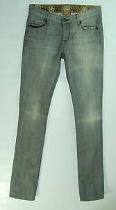 Studded-GRAY-Low-LONG-STRAIGHT-Faded-RICH-amp-SKINNY-Silverado-Jeans-26-Long-34-034