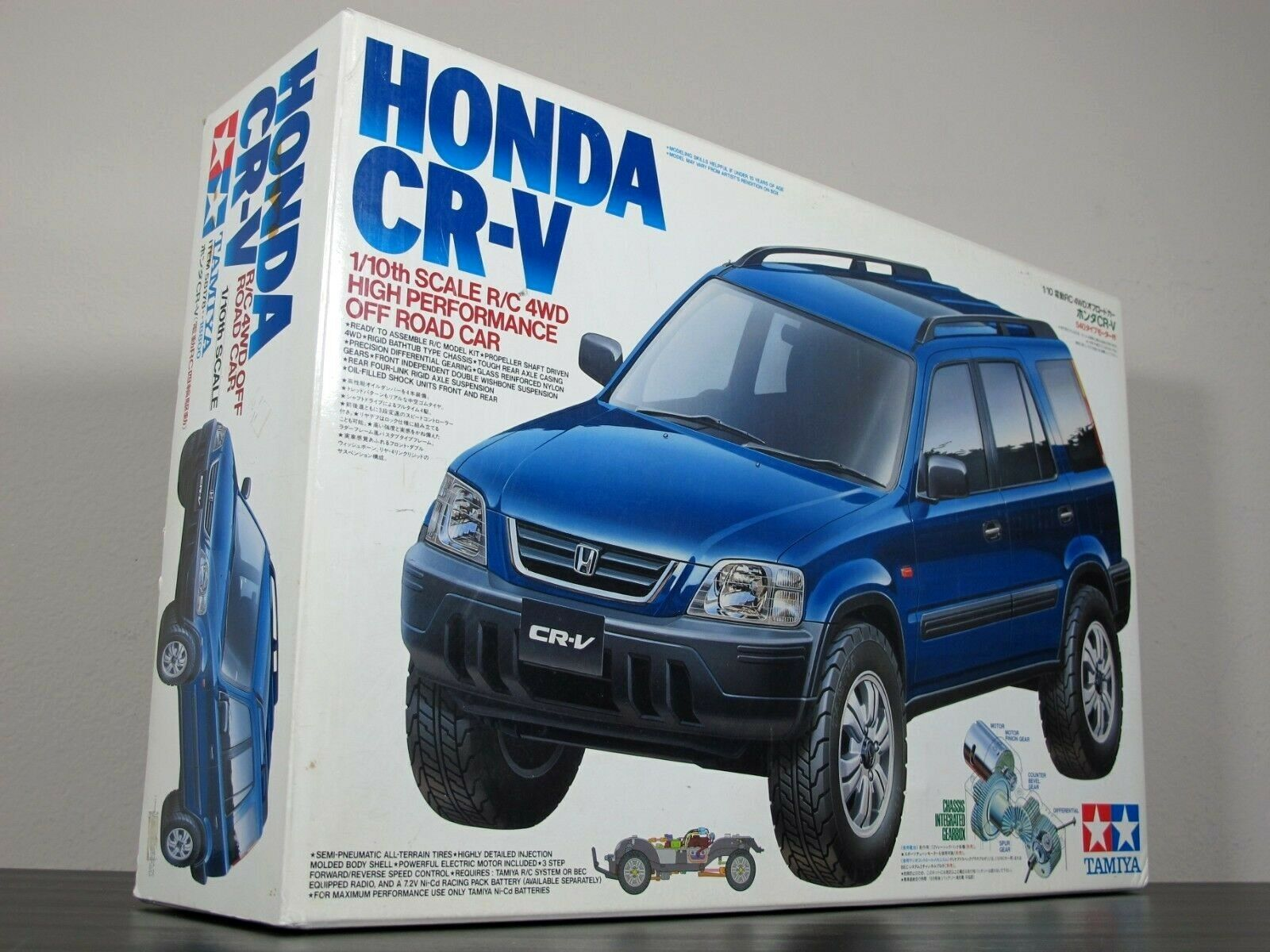 New in Box Vintage Tamiya 1 10 R C 4WD Honda CRV CR-V Off Road Kit CR01