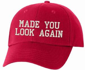 MADE YOU LOOK AGAIN MAGA Embroidered Adjustable Flex WH Donald Trump ... 80b878682ca0