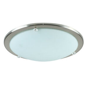 modern chrome glass round flush dome bathroom ceiling light fittings