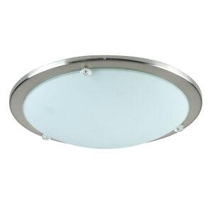 Image Is Loading Modern Chrome Gl Round Flush Dome Bathroom Ceiling