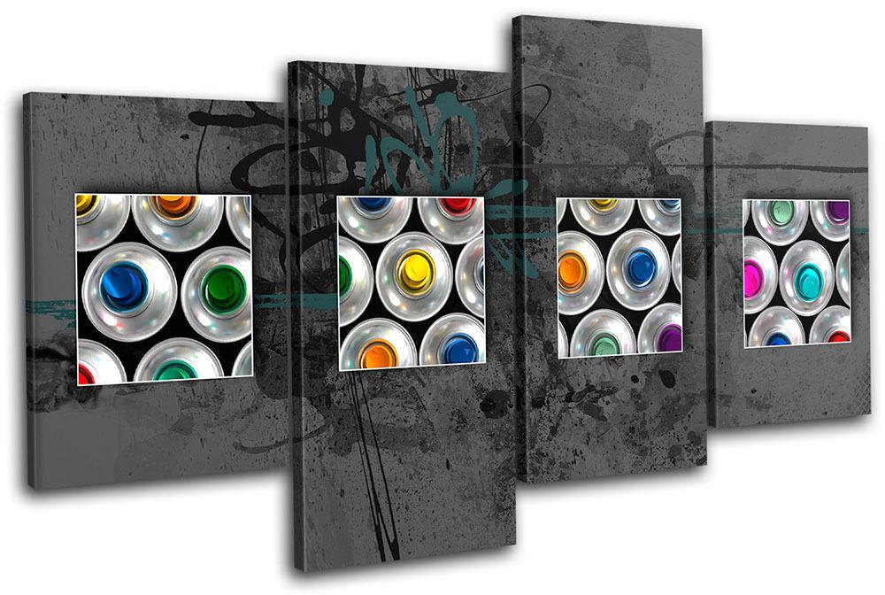 Spray Spray Spray Cans Abstract  Graffiti MULTI LONA pa rojo  arte Foto impresion bd8501