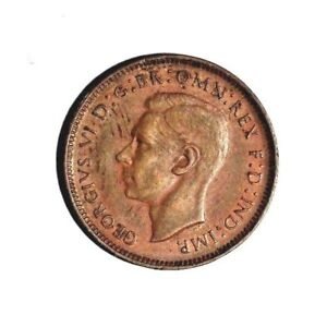 Excellent Coin FREE SHIP 1944 GREAT BRITAIN FARTHING Farthing Bin #2