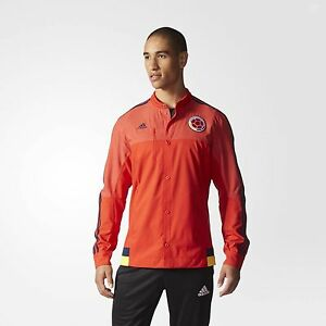 f785458842 Details about Adidas Men's FCF COLOMBIA ANTHEM TRACK JACKET, M36365  Red/Navy, US Size S $90