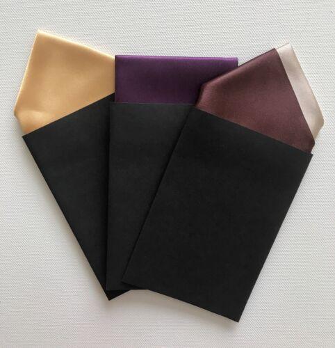 Men/'s Pocket Fazzoletti-Set di tre colori-Carta fisso ripiegata Fazzoletto