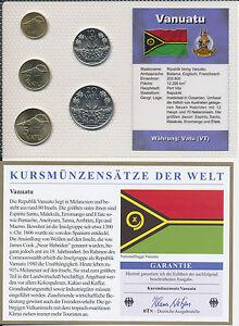 Vanuatu Kms 5 Münzen Aus 1995 1999 Unc Satz Mit Btn Zertifikat