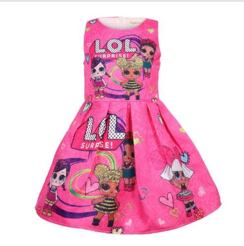 LOL Girl Princess Dress Surprise Doll Dress Holiday Halloween Kid Gift Birthday