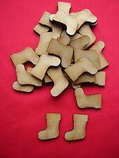3cm / 30mm MDF MINI CHRISTMAS STOCKINGS X 40 - LASER CUT MDF WOODEN SHAPE