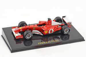 M-Schumacher-Ferrari-f2002-1-coupe-du-monde-de-Formule-1-2002-avec-vitrine-1-43-Altaya