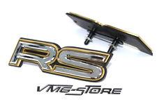 3D RS Kühlergrill Emblem Badge Chrom/Gold NEU Schriftzug Audi Ford Skoda Tuning