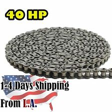 40hp Hollow Pin Roller Chain 10 Feet With 1 Connecting Link